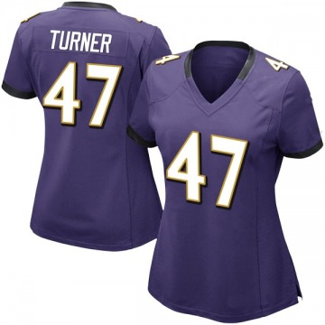 Women's Baltimore Ravens De'Lance Turner Purple Limited Team Color Vapor Untouchable Jersey By Nike