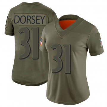 Women's Baltimore Ravens Khalil Dorsey Camo Limited 2019 Salute to Service Jersey By Nike