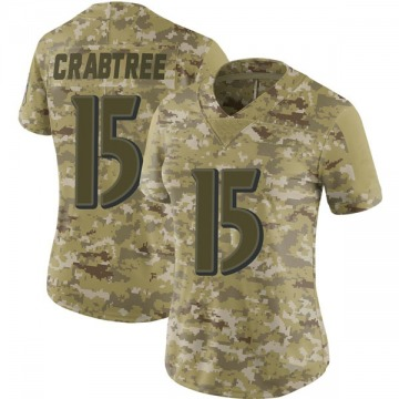 Women's Baltimore Ravens Michael Crabtree Camo Limited 2018 Salute to Service Jersey By Nike