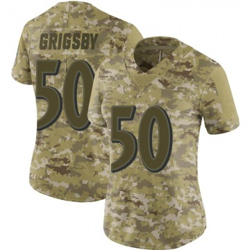 Women's Baltimore Ravens Nicholas Grigsby Camo Limited 2018 Salute to Service Jersey By Nike