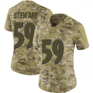 Women's Baltimore Ravens Silas Stewart Camo Limited 2018 Salute to Service Jersey By Nike