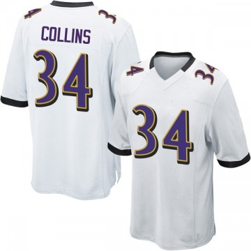 Youth Baltimore Ravens Alex Collins White Game Jersey By Nike