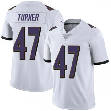 Youth Baltimore Ravens De'Lance Turner White Limited Vapor Untouchable Jersey By Nike