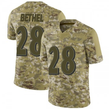 Youth Baltimore Ravens Justin Bethel Camo Limited 2018 Salute to Service Jersey By Nike