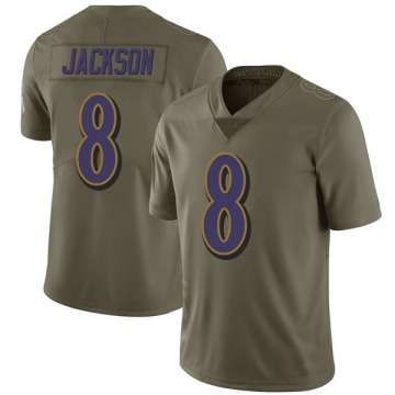 Youth Baltimore Ravens Lamar Jackson Green Limited 2017 Salute to Service Jersey By Nike