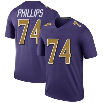 Youth Baltimore Ravens Tyre Phillips Purple Legend Color Rush Jersey By Nike